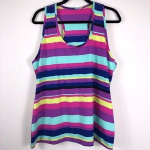 Likka Lux Athletic Racer Back Tank Top Size Large